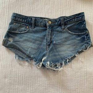 Free People distressed cut off shorts